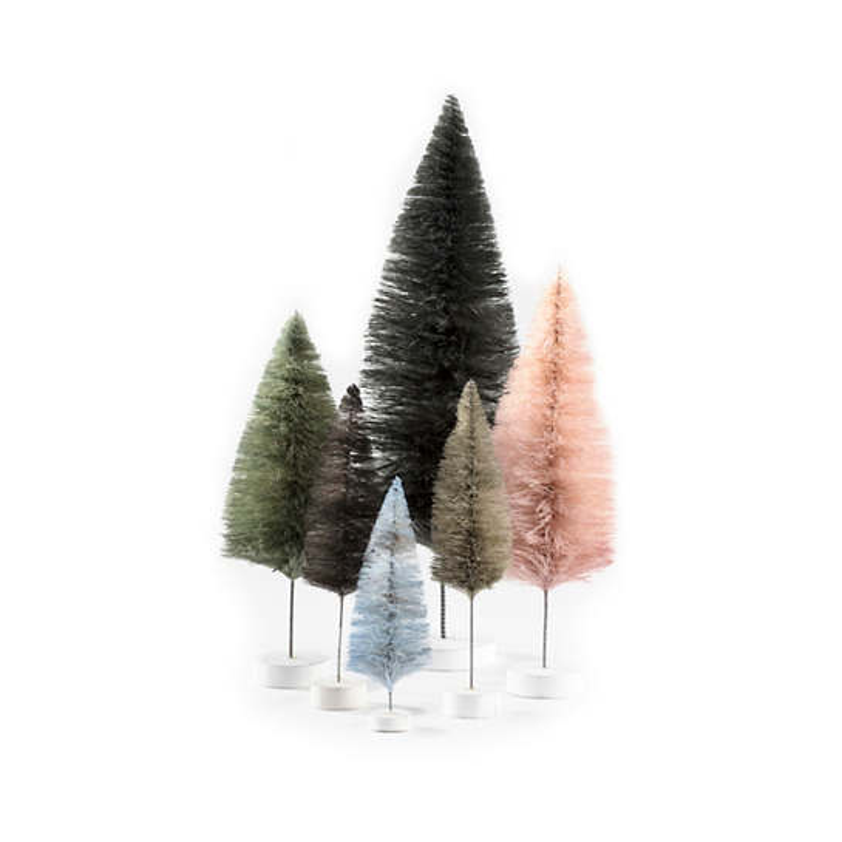 Grey Rainbow Trees/Set Of 6