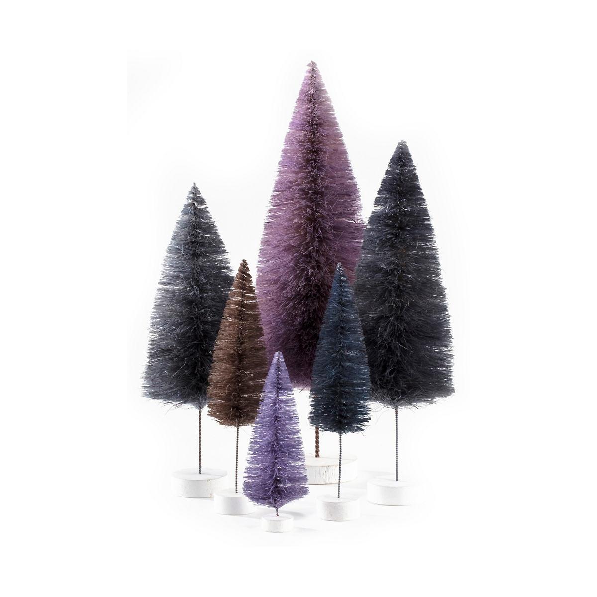 Purple Rainbow Trees/Set Of 6