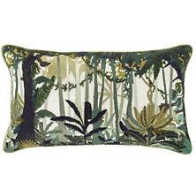 Rainforest Embroidered  Decorative Pillow
