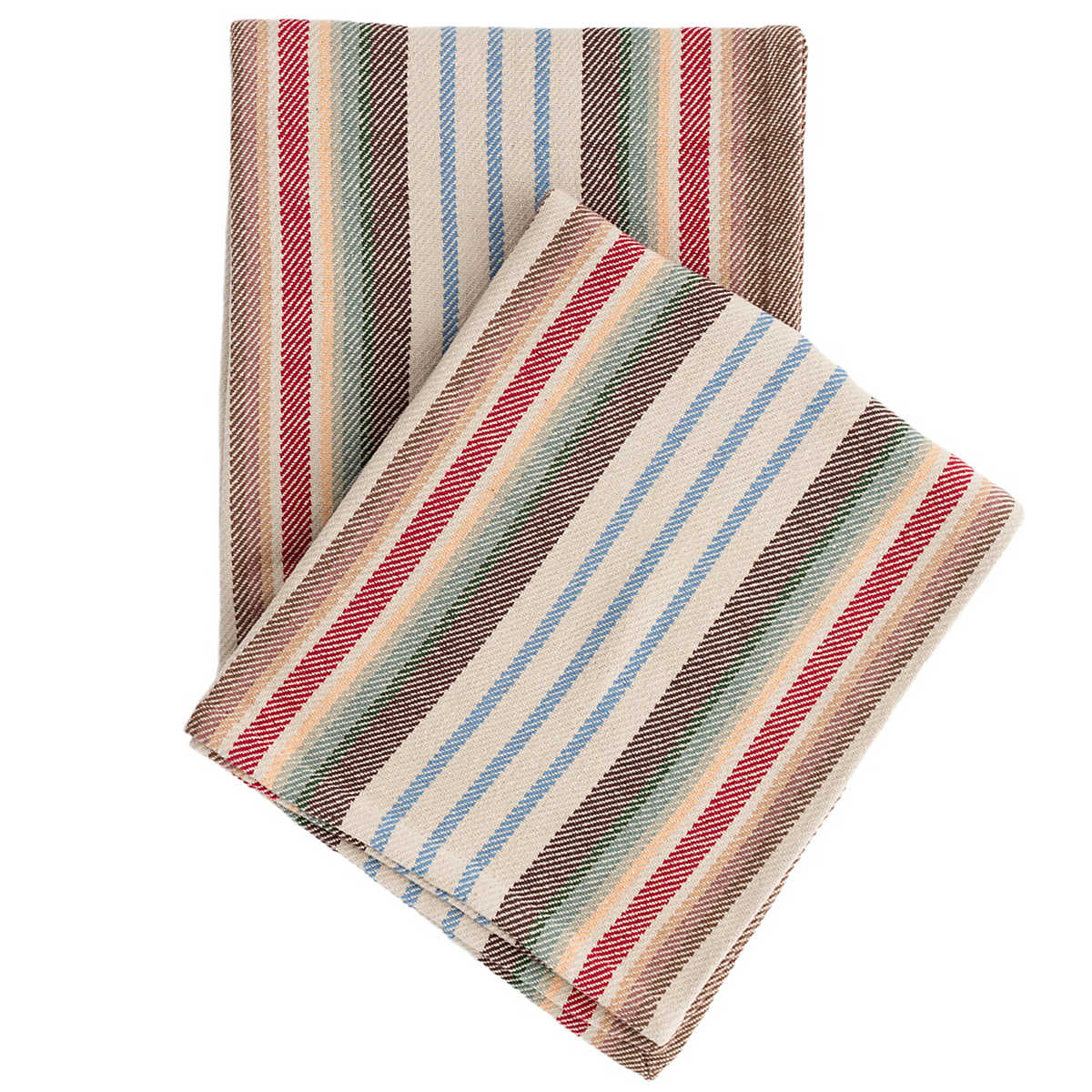 Ranch stripe woven cotton throw dash albert for Dash and albert blankets