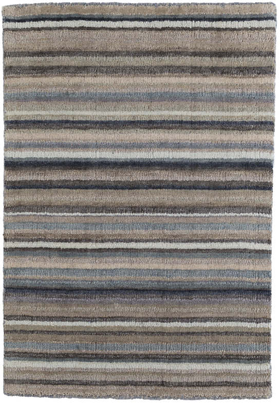 Ranger Stripe Loom Knotted Wool Rug