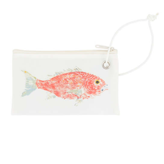 Red Snapper Gyotaku Wristlet