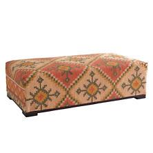 Reed Kilim Rug Bench