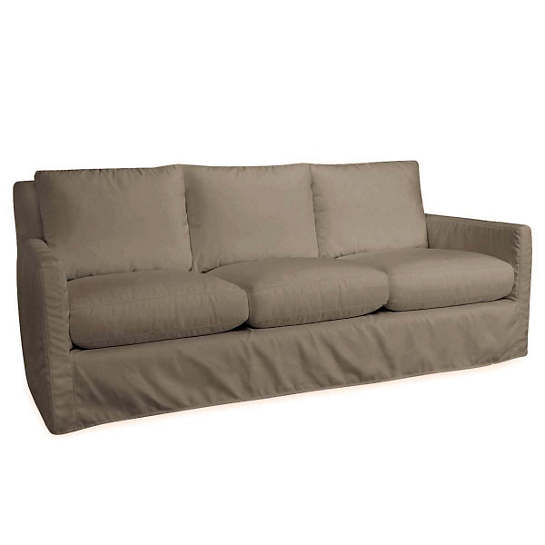 Relax To The Max 3 Seat Outdoor Sofa Platinum Canvas