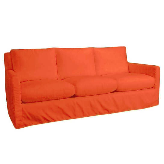 Relax to the Max 3 Seat Outdoor Sofa Tangerine Canvas