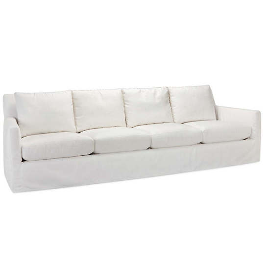 Relax to the Max 4 Seat Outdoor Sofa Linen White Canvas