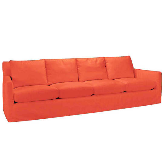 Relax to the Max 4 Seat Outdoor Sofa Tangerine Canvas