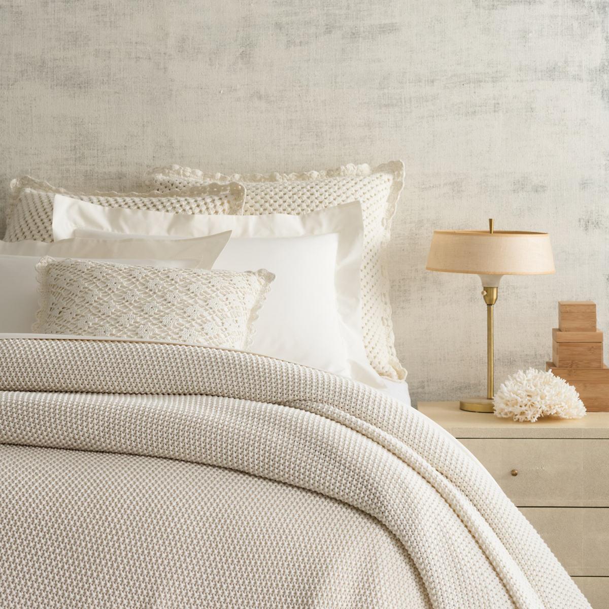 Remy Knit Ivory Blanket