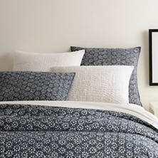 Resist Floral Grey Coverlet