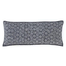 Resist Floral Grey Decorative Pillow