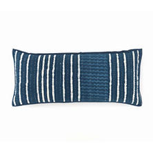 Resist Stripe Indigo Decorative Pillow