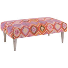Rhapsody Tapered Cerused Oak Leg Rug Ottoman