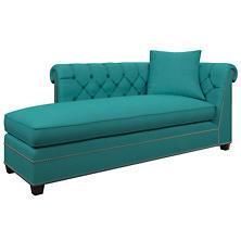 Estate Linen Turquoise Richmond Left Facing Chaise
