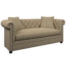 Adams Ticking Brown Richmond Sofa