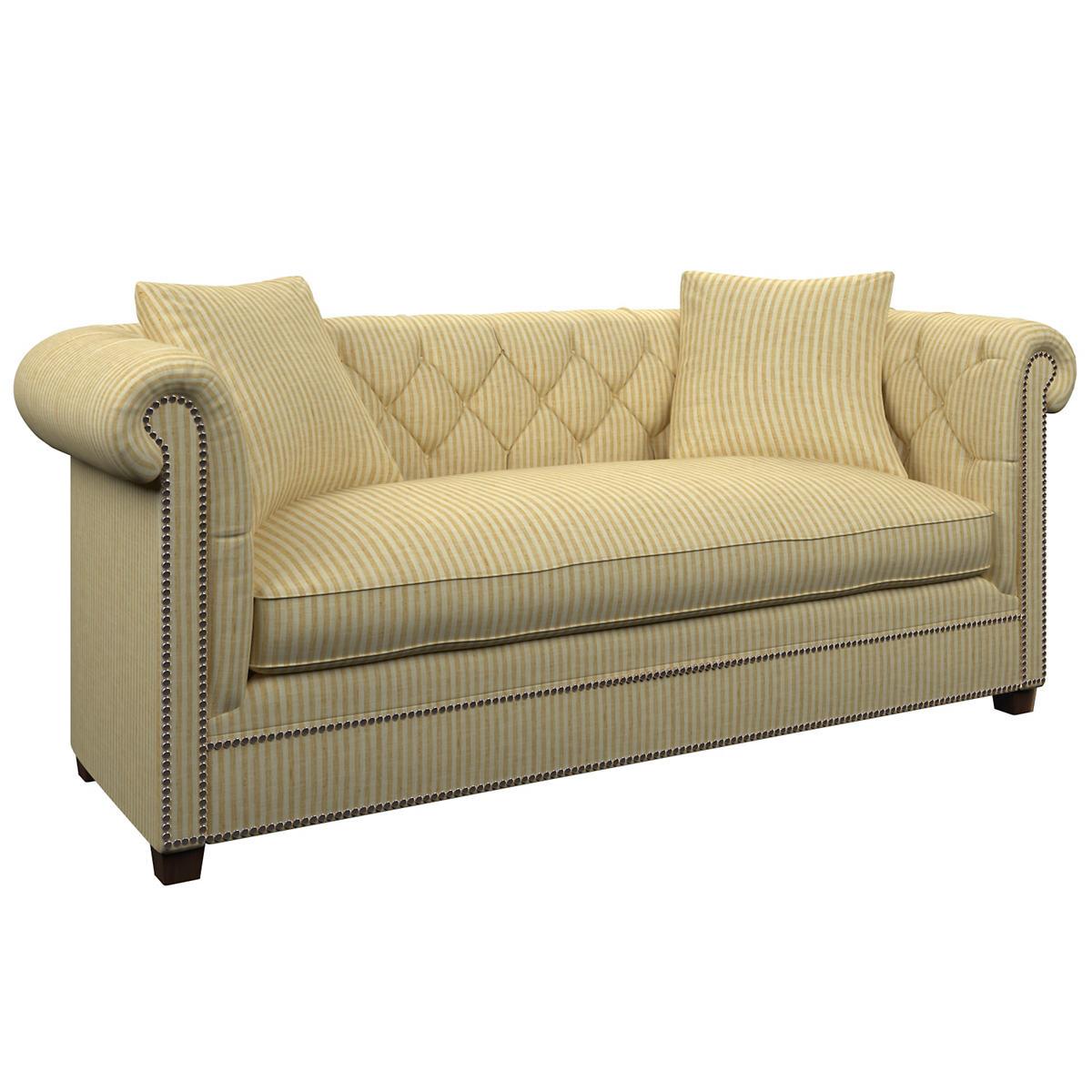 Adams Ticking Gold Richmond Sofa