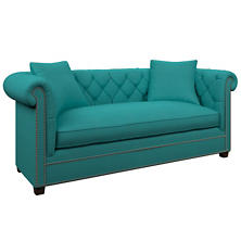 Estate Linen Turquoise Richmond Sofa