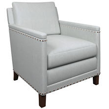 Pinstripe Navy Ridgefield Chair