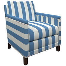 Alex French Blue Ridgefield Chair