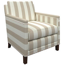 Alex Pearl Grey Ridgefield Chair