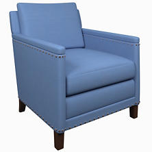 Estate Linen French Blue Ridgefield Chair