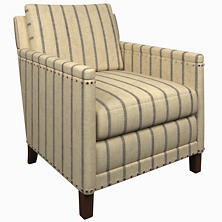 Glendale Stripe Navy/Brown Ridgefield Chair