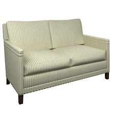 Adams Ticking Light Blue Ridgefield Loveseat