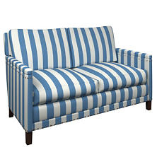 Alex French Blue Ridgefield Loveseat