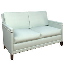 Estate Linen Powder Blue Ridgefield Loveseat