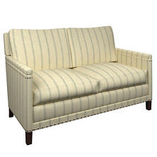 Glendale Stripe Light Blue/Natural Ridgefield Loveseat
