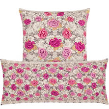 Roses Embroidered Decorative Pillow