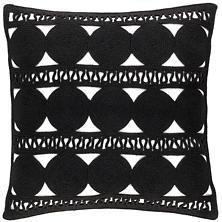 Round Turn Black Indoor/Outdoor Decorative Pillow