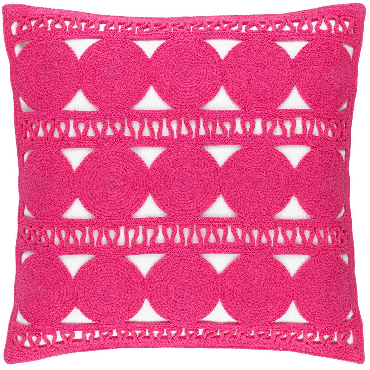 Round Turn Fuchsia Indoor/Outdoor Decorative Pillow
