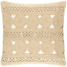 Round Turn Natural Indoor/Outdoor Decorative Pillow