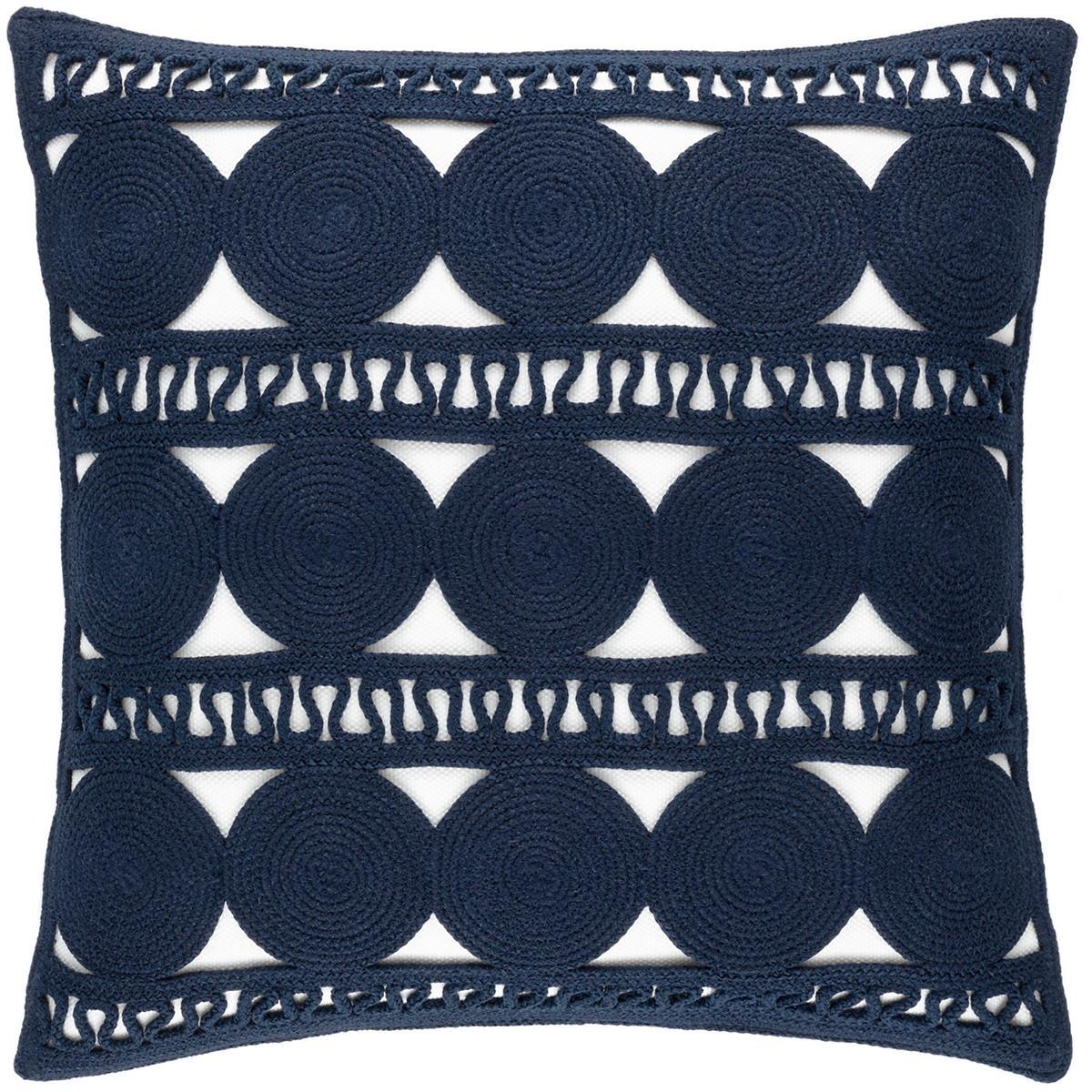 Round Turn Navy Indoor/Outdoor Decorative Pillow