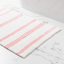 Rowe Stripe Coral Bath Rug