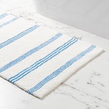 Rowe Stripe French Blue Bath Rug
