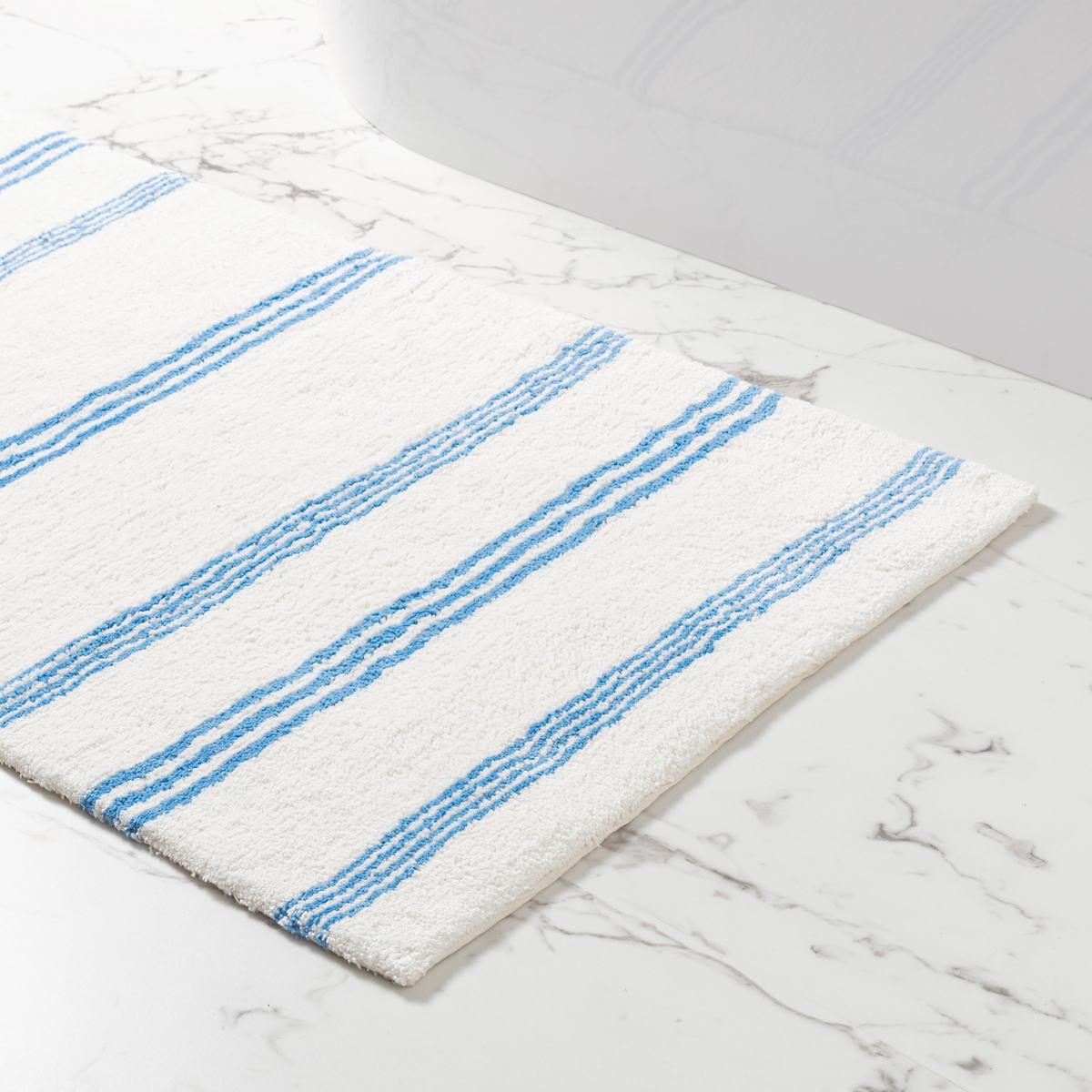 Rowe Stripe French Blue Bath Rug