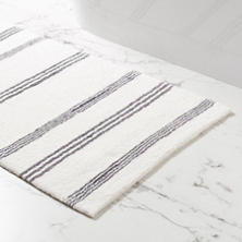 Rowe Stripe Shale Bath Rug