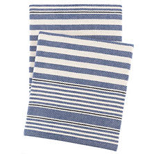 Rugby Stripe Denim Throw