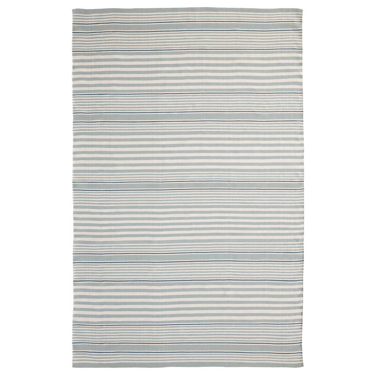 Rugby Stripe Light Blue Indoor/Outdoor Rug | Dash & Albert