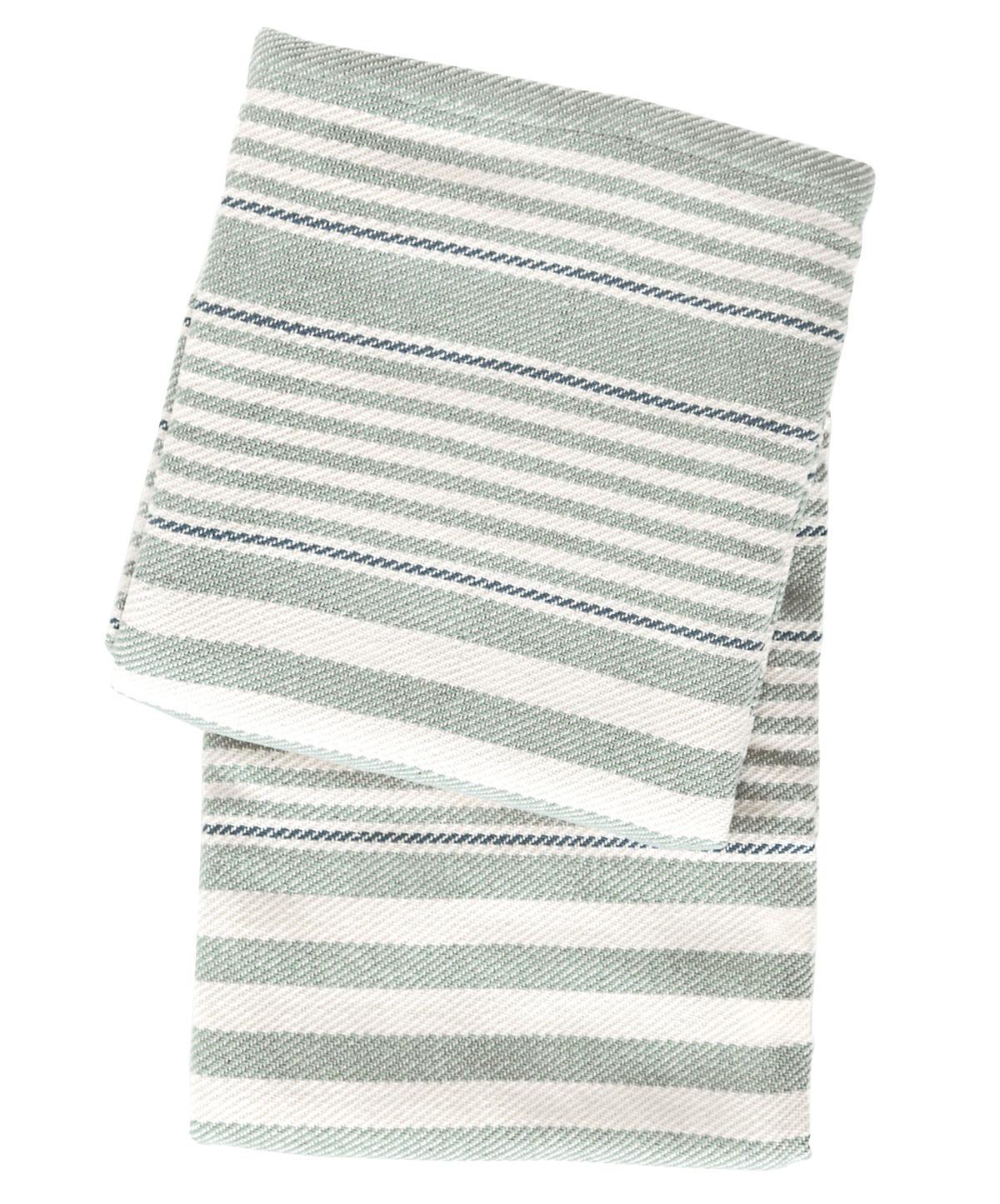 Rugby Stripe Light Blue Woven Cotton Throw Dash Amp Albert