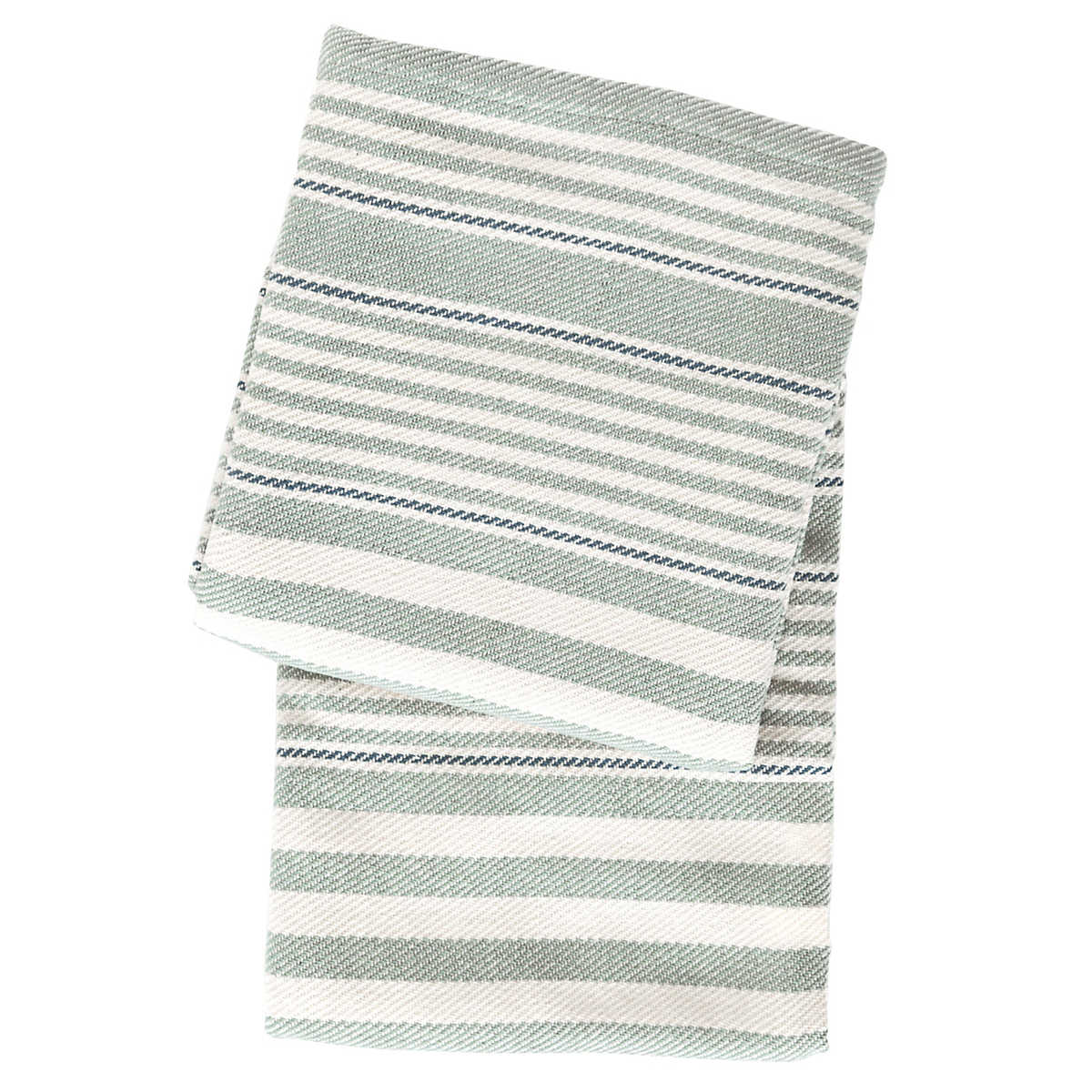 Rugby stripe light blue woven cotton throw dash albert for Dash and albert blanket