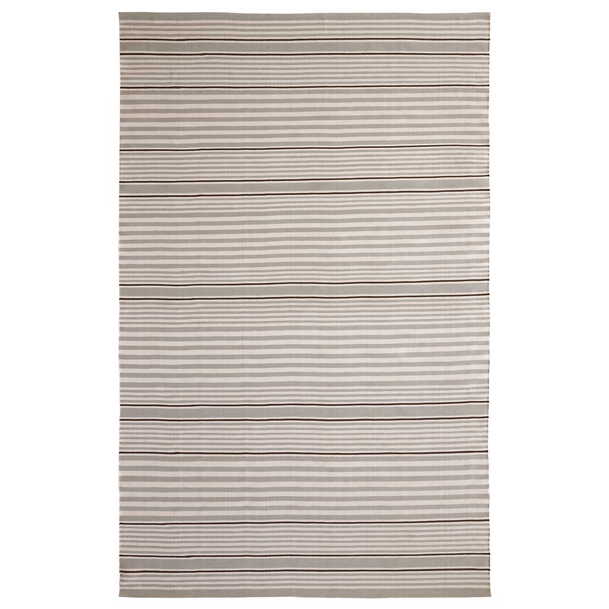 Rugby Stripe Platinum Indoor/Outdoor Rug | Dash & Albert