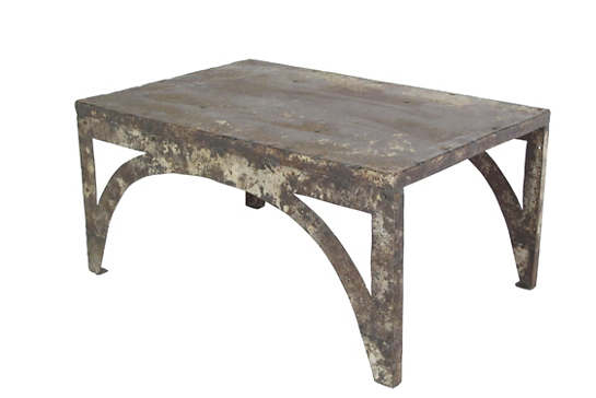 Rustic Reclaimed Metal Coffee Table