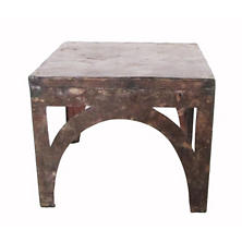 Rustic Reclaimed Metal Side Table