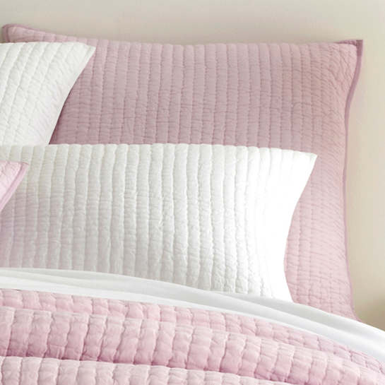 Lana Voile Pale Lilac Quilted Sham