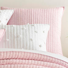 Lana Voile Pink Quilted Sham