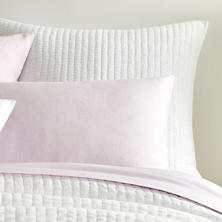 Lana Voile White Quilted Sham