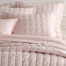 Lush Linen Slipper Pink Puff Sham