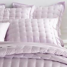 Silken Solid Pale Lilac Puff Sham